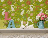 Bunny Hop Wall Stencil for Wall Decor DIY Wallpaper Look