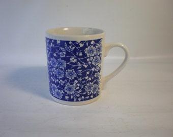 Vintage Calico Blue Floral Mug