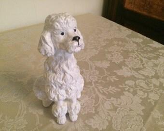 Universal Statuary Poodle Dog Art French Poodle Decor White Poodle Figurine Art