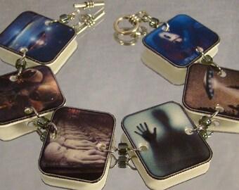 Alien Print Art Bracelet - UFO Jewelry - Outer Space