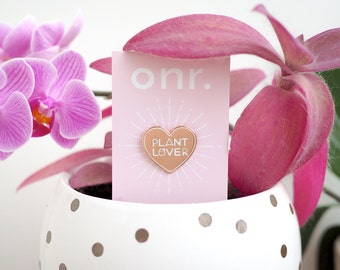 Plant Lover Enamel Pin // enamel pin - lapel pin - flair - enamel jewellery - pin badge
