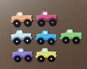 Ute Truck Pick Up x 7 Die Cut Embellishments Scrapbooking Paper Embellishments Fully Assembled