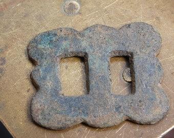 Antique brass  part of buckle, dark patina