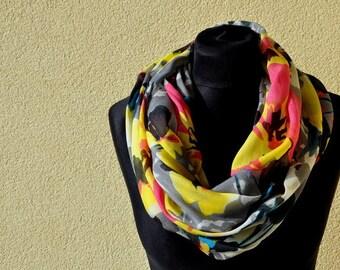 tube scarf, flowers