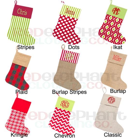 Family Christmas Stocking Personalized Stocking Christmas