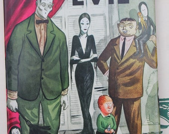 Vintage Book, Addams and Evil, Cartoons by Chas Addams, 1947 and Intro by Wolcott Gibbs