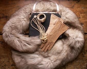 Vintage Long Fur Collar - Perfect for Re-purposing!