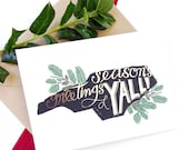 Season's Greetings, Y'all folded Greeting Card - PRESALE