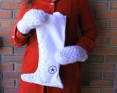 Converse Christmas Stocking - White holiday stocking- Santa Sack