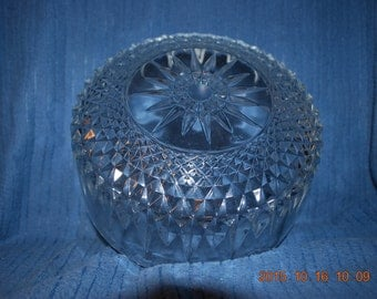 9 inch Pressed Glass Bowl