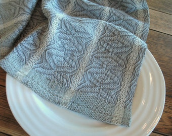 Light Grey, Dark Grey and White Handwoven 100% Unmercerized Cotton Dish Towel