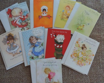 Vintage Cards Vintage Greeting Cards Secret Pal Cards Thinking of You Note Cards