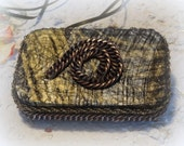 Steam Punk, Snail, Credit Card Case, Altered Tin Box