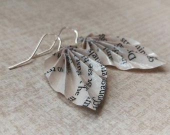 Literary Origami Leaf Earrings // Harry Potter