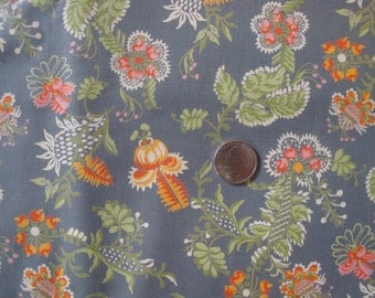 1960s Vintage Floral Cotton Print Fabric, 5 Yds for Dresses, Shirts