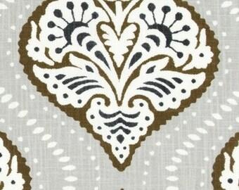 Designer Pillow Cover -  Lumbar, 16 x 16, 18 x 18, 20 x 20, 22 x 22. 24 x 24 - Dwell Studio - Kavali Ogee Bronze