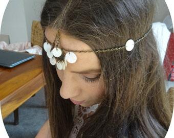 Hair Chain Hair Jewelry Headpiece Head Jewelry Head Piece Hair Accessory Coachella Burning Man Head Chain Headpiece Boho Headpiece Shale