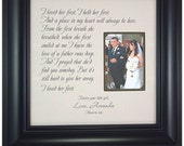 Personalized Father of the Bride Picture Frame