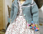 RESERVED 1950's Classic Sweater and Shirtwaist  Dress fits 18 Inch Dolls