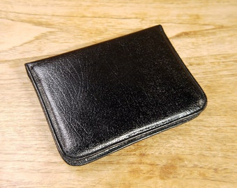 Vintage Black English Leather Writing Case 1970s Leather Wallet
