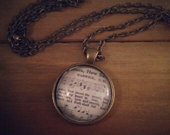 Amazing Grace Sheet Music Necklace