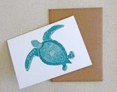 Set of eight (8) notecards, including sea turtles and starfish