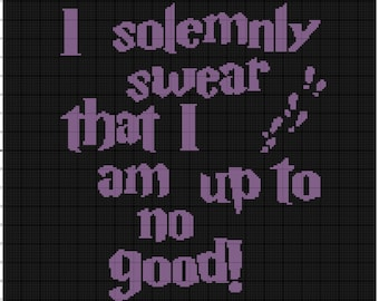 INSTANT DOWNLOAD I solemnly swear that i am up to no good crochet graph