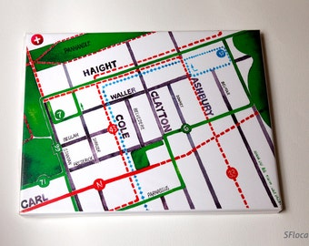 "14x18"" Haight Ashbury/Cole Valley - San Francisco map"