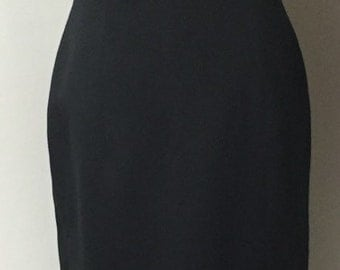 Audrey Hepburn Style Vintage Victor Costa Black Satin Gown Moving Sale
