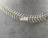 Silver plating over Raw solid brass 20 feet fantastic fish bone chain-F1685-without stripes on surface