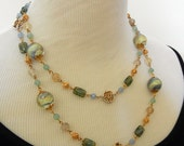 In A Bottle - Glass, Chainmaille, and Crystal Necklace & Earring Set