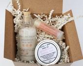 Mini Spa Set, Gift Set, Gift for Her, Favors, Lavender Set, Vegan Gift Ideas