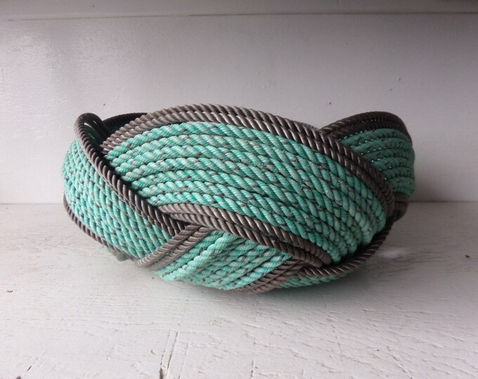 "15"" x 8"" Bread Basket Bowl Centerpiece Nautical Decor Made in Alaska Choose Color of Rope"