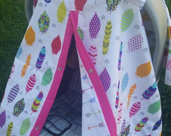 Carseat Canopy Arrow Feather..Can also be used as a Nursing Cover