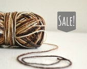 Brown Mix Rustic Jute Twine / string / ombre twine / Yarn - for crafting, kniting, crochet, gift wrapping, packaging, scrapbook
