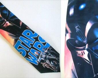 1990s Star Wars Darth Vader Necktie 1994 Lucasfilm Ralph Marlin Collectible Tie