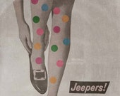 Pop Art Print, Mod Art, Colorful Art Print, Paper Collage Print, Weird Wall Art, Polkadot Art, Rainbow Wall Art, Women's Legs Art