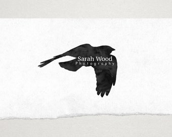 Premade Logo // Logo Design // Business Logo //  Photography Logo // Watercolor Logo // Bird in Flight Logo