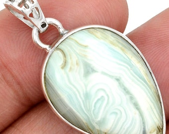 RESERVED. Authentic Natural Hemimorphite Pendant.  Solid Sterling Silver