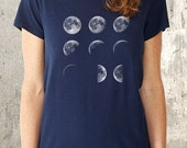 Phases of the Moon - Women's Alternative Apparel Crew Neck Shirt - Women's Small Through XL Available
