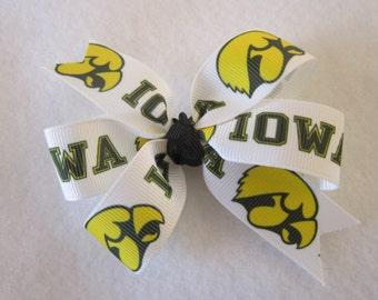 Iowa Hawkeyes hair bow