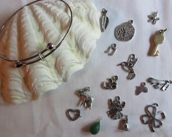 Silver Charm Bracelets, Adjustable, Bracelet, Charms, Silver, Adjustable