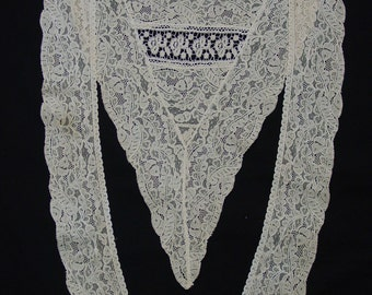 Pretty Antique Lace Lappet, Collar Early 1900's Excellent Condition