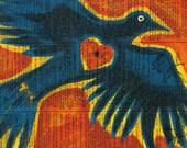 Valentine Raven Heart  - Messenger - Vintage Ephemera - Original Art  - Altered - Cathy DeLeRee