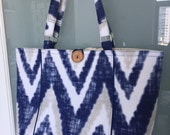 Market tote bag, with great ikat design