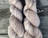 Hand Dyed Yarn, Variegated Yarn, Hand Painted Yarn, Neutral Color, Brown