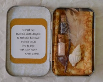 Personal and Traveling Small Meditation, Affirmation, Pagan, Wiccan Shrine Kit (T0216Wa)