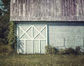 Aqua Grey Barn Landscape, Soft Mint Barn Print or Canvas Wrap, New York Barn Art, Barn Picture, Charlton New York Barn Picture, Barn Doors.