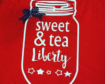 Sweet Tea and Liberty Relaxed-Fit Tee