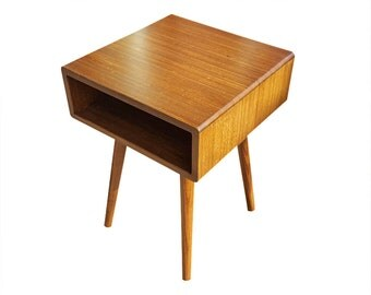 Bamboo Mid Century Inspired End Table / Side Table